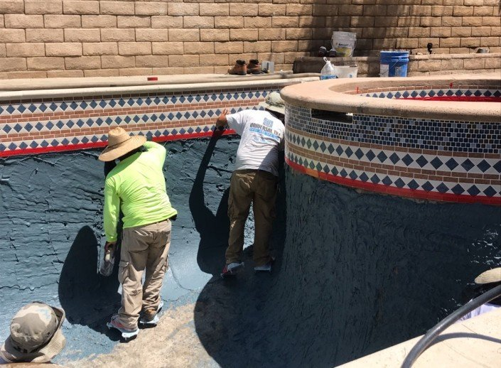 Castaic - Pool Re-plaster and Remodel 1