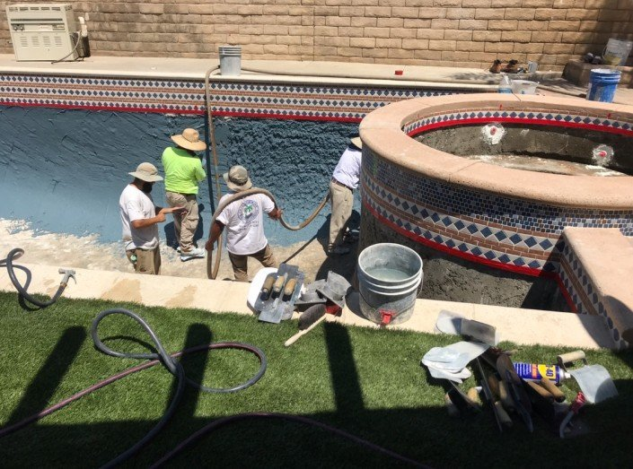 Castaic - Pool Re-plaster and Remodel 2
