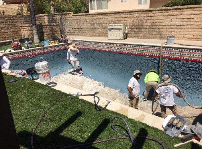 Castaic - Pool Re-plaster and Remodel 3