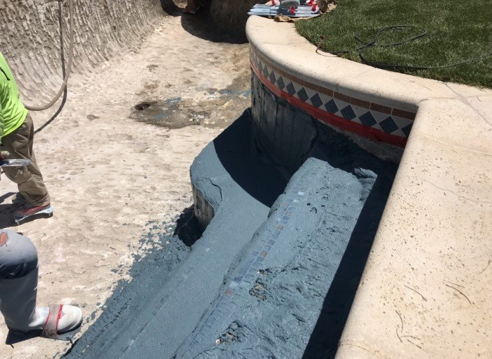 Castaic - Pool Re-plaster and Remodel 5