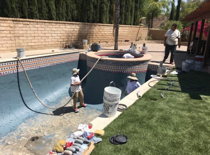 Castaic - Pool Re-plaster and Remodel 6