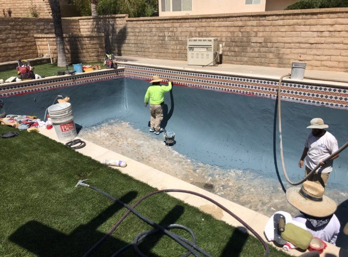 Castaic - Pool Re-plaster and Remodel 8