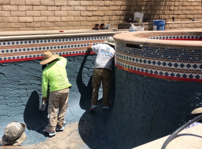 Castaic - Pool Re-plaster and Remodel 9