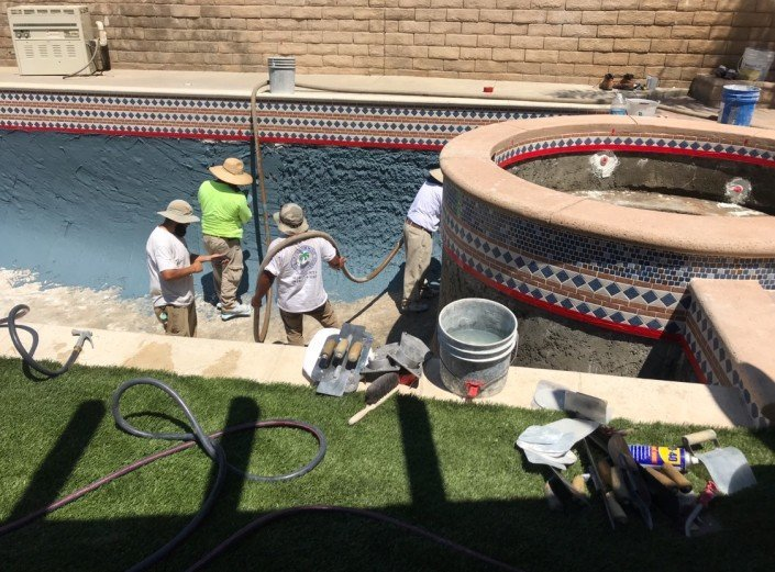 Castaic - Pool Re-plaster and Remodel 10
