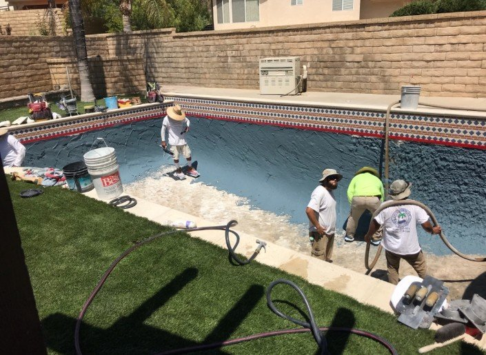 Castaic - Pool Re-plaster and Remodel 11