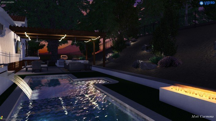 Pool Design and Backyard Remodel - Bell Canyon 13