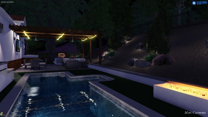 Pool Design and Backyard Remodel - Bell Canyon 12