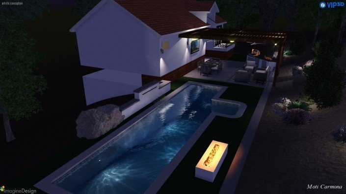Pool Design and Backyard Remodel - Bell Canyon 11