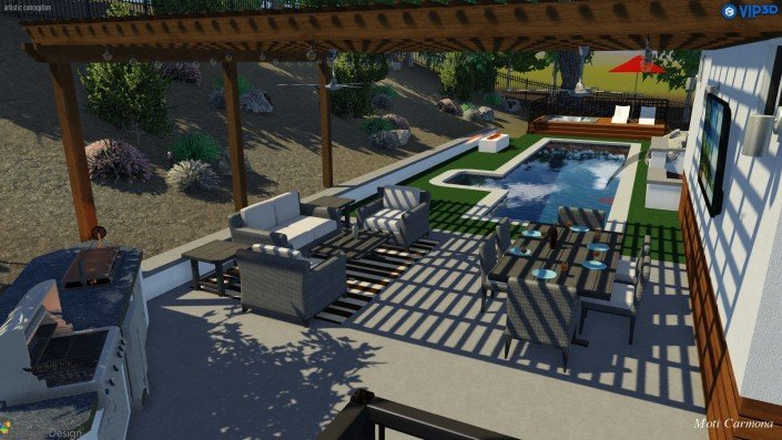 Pool Design and Backyard Remodel - Bell Canyon 6