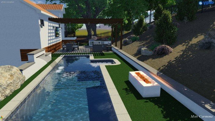 Pool Design and Backyard Remodel - Bell Canyon 7