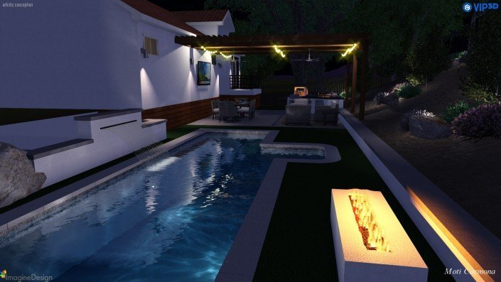 Pool Design and Backyard Remodel - Bell Canyon 9