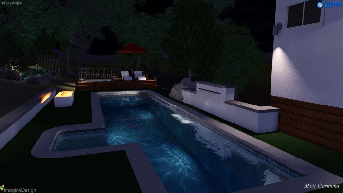 Pool Design and Backyard Remodel - Bell Canyon 8