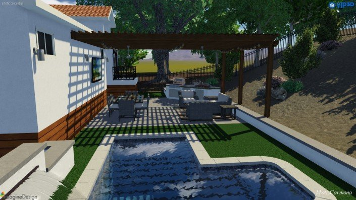 Pool Design and Backyard Remodel - Bell Canyon 2