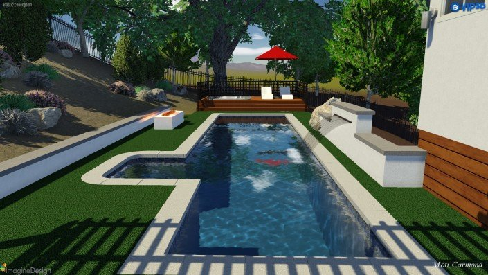 Pool Design and Backyard Remodel - Bell Canyon 1