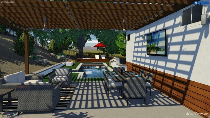 Pool Design and Backyard Remodel - Bell Canyon 3