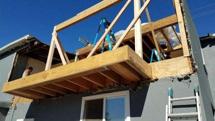 Eagle Rock LA - Complete Home Reinforcement and Balcony Addition 3